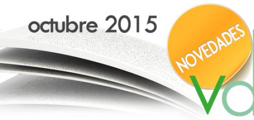 Novedades Editoriales: Octubre 2015