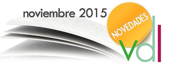 Novedades editoriales: Noviembre 2015