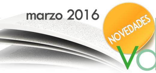 VDL Novedades Editoriales Marzo 2016